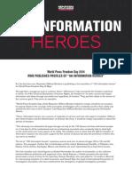 """100 """"héroes de la información""""   Reporteros sin Fronteras (RSF)"""