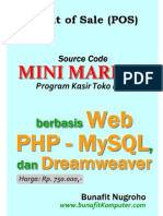 Source Code Minimarket Program Kasir Toko Retail Berbasis Web PHP MySQL Dreamweaver