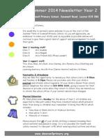 Year 2 Newsletter Summer 2014