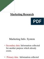 Marketing ResearchIIM 08-09