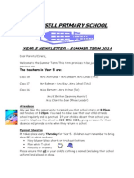 Year 5 Newsletter Summer 2014