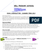 Year 6 Newsletter Summer 2014