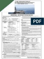 Notification Indian Navy Recruitment