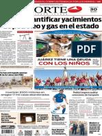 Periódico Norte de Ciudad Juárez edición impresa del 30 abril del 2014