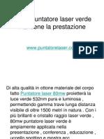 80mw Puntatore Laser Verde Mantiene La Prestazione