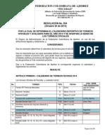 Resol 54 Calendario 2014 Ofertas Sedes