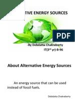Alternative Energy Souces