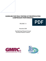 Guideline for Field Testing of Reciprocating Compressor Performance