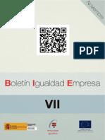 España - Boletin Igualdad en la Empresa (BIE) N° 7