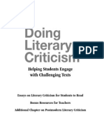 Doing Literary Criticism Bonus CD
