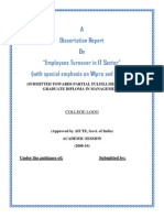 Project Report on Employees Turnover in IT Sector Wipro and Infosys1