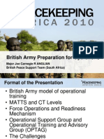 British Army Preparations for Operations