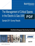 ScottMadden UMMBC Critical Spares Survey Abridged