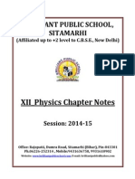 Doc 121 B.P.S. XII Physics Chapter Notes 2014 15