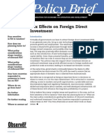 Tax Effects on Foreign Direct