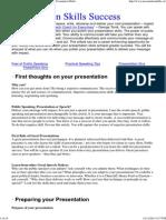 Presentation Skills Success, Public Speaking Tips, Presentation Skills