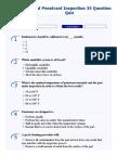 Liquid Penetrant Inspection 35 Question Quiz