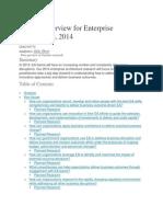 Agenda Overview for Enterprise Architecture