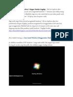 Panduan Menginstall Windows 7 by Arkanul Aslam