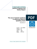 The Use of Speech Synthesis in Exploring DifferentThe use of speech synthesis in exploring different