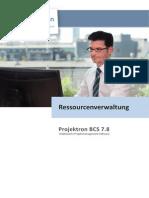 Projektron BCS 7.8 Ressourcenverwaltung