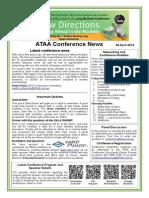 ATAA Conference News 2014 01