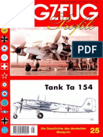 (Flugzeug Profile No.25) Tank Ta 154