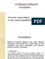 Point-Biserial and Biserial Correlation