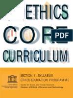 Bioethics Core Curriculum - Syllabus