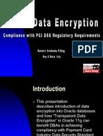 Oracle Data Encryption
