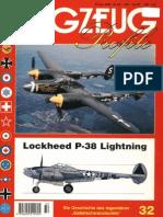 (Flugzeug Profile No.32) Lockheed P-38 Lightning