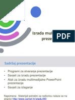 Izrada Multimedijalne Prezentacije - Prezentacija
