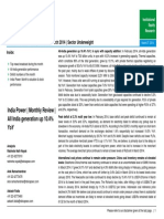 Power Sector Monthly Review - March 2014