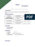 Ponin Resume