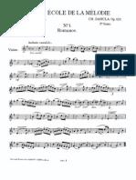 Petite École de La Mélodie, Op.123 (Dancla, Charles) Violin