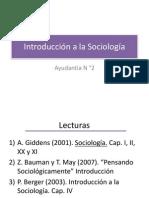 Introducción a la Sociología Ayudantía Solemne I