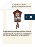 Cuckoo Clocks - A Short Record of Telling Time