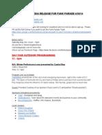 Final Programming Press Release