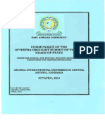 Communique of the 12th Extra Ordinary Summit of EAC Heads of State