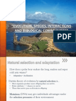EVOLUTION,SPECIES, INTERACTIONS AND BIOLOGICAL COMMUNITIES.pps