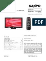 Sanyo LCD-24XH7 - Manual de Servicio