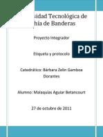 Proyecto integrador de etqueta