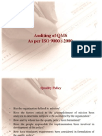Auditing of QMS