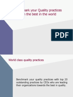 Benchmark Your Practices
