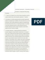 Formative Assessment Vs
