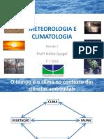 Meteorologia e Climatologia - Revisão 1