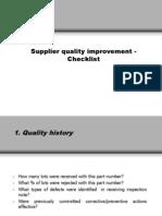 Supplier Quality Improvement