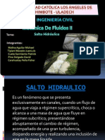 Diapositiva - Fluidos II - Salto Hidraulico