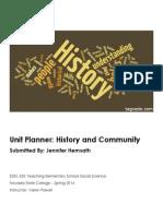 EDEL453 Spring2014 Jennifer HEMSATH Unit Plan Planner
