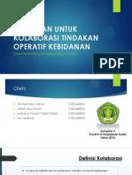 Persiapan Untuk Kolaborasi Tindakan Operatif Kebidanan